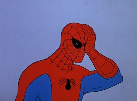 facepalm spiderman